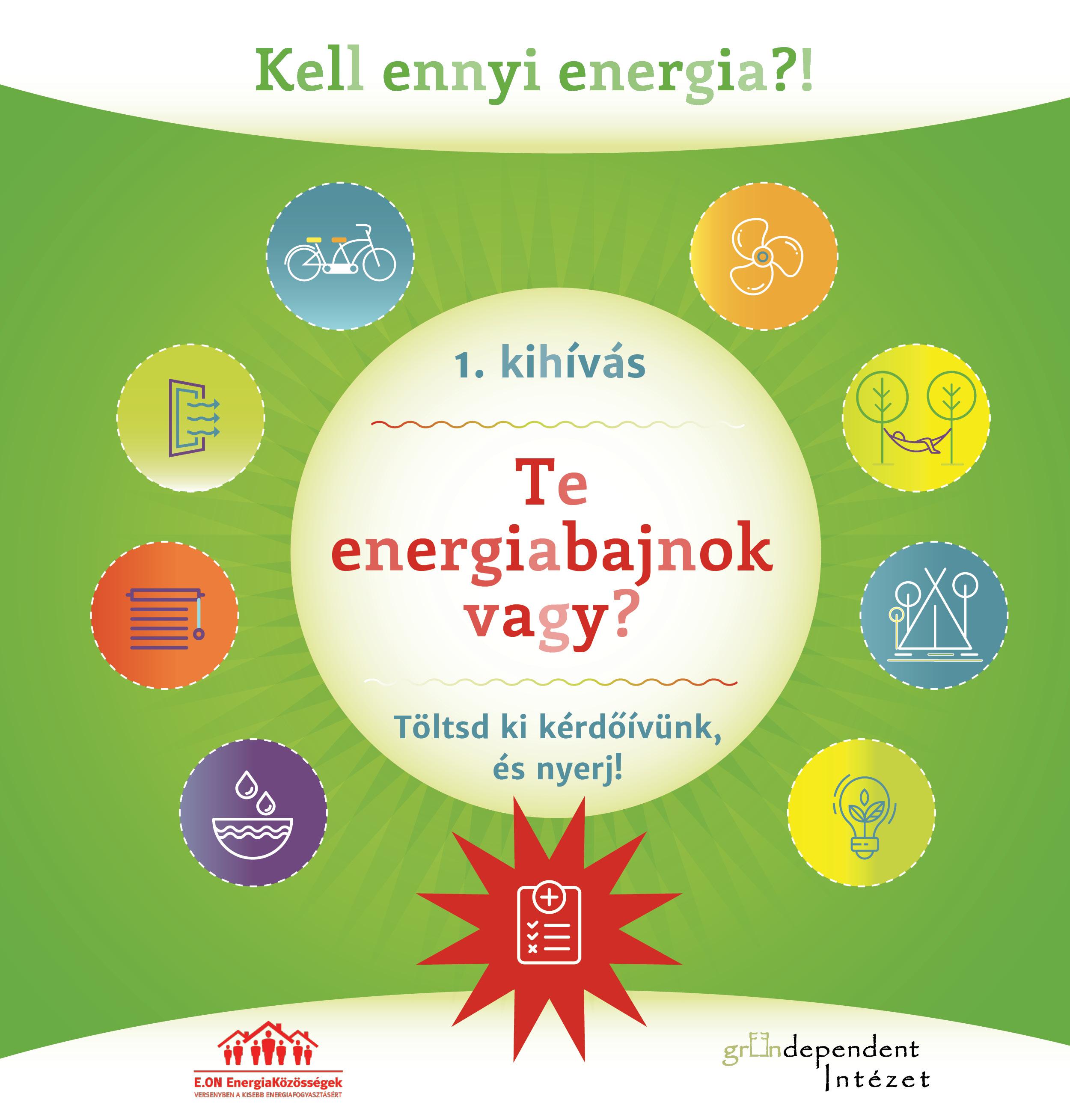 Idén harmadik alkalommal szervezi meg a GreenDependent Intézet 9 hetes közösségimédia kampányát az E.ON EnergiaKözösségek közösségi oldalán az E.ON Csoport támogatásával.